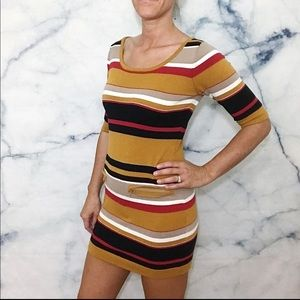 Romeo & Juliet Couture Striped Sweater Dress S